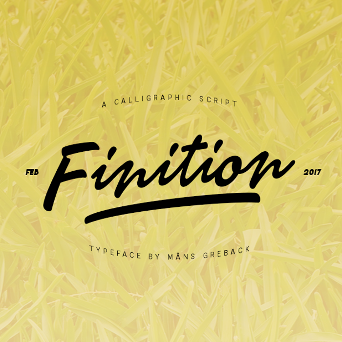 Finition Font poster