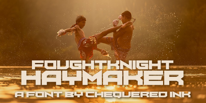 FoughtKnight Haymaker Font poster