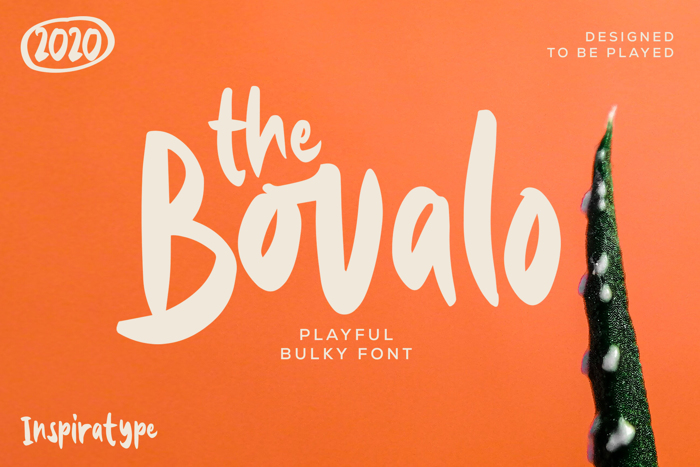 The Bovalo Font poster