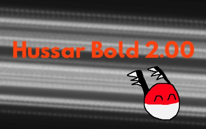 Hussar Font poster