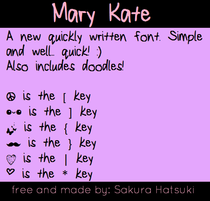 MaryKate Font poster