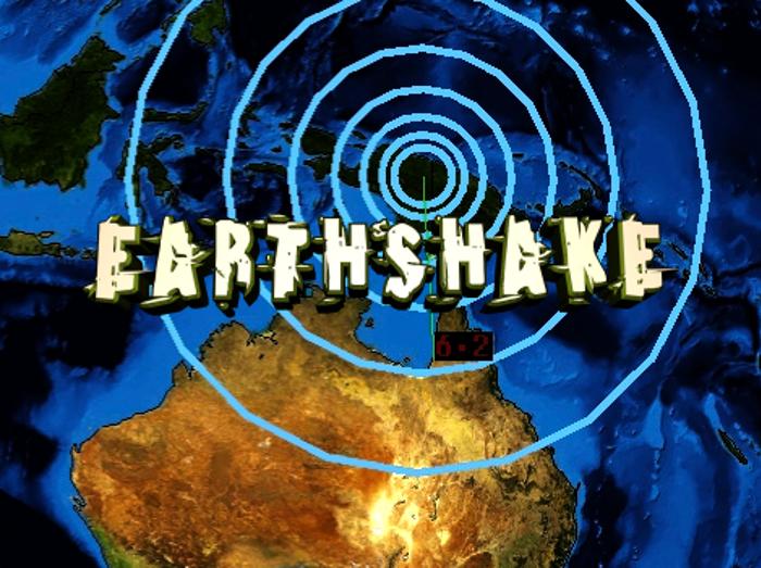 Earthshake Font poster
