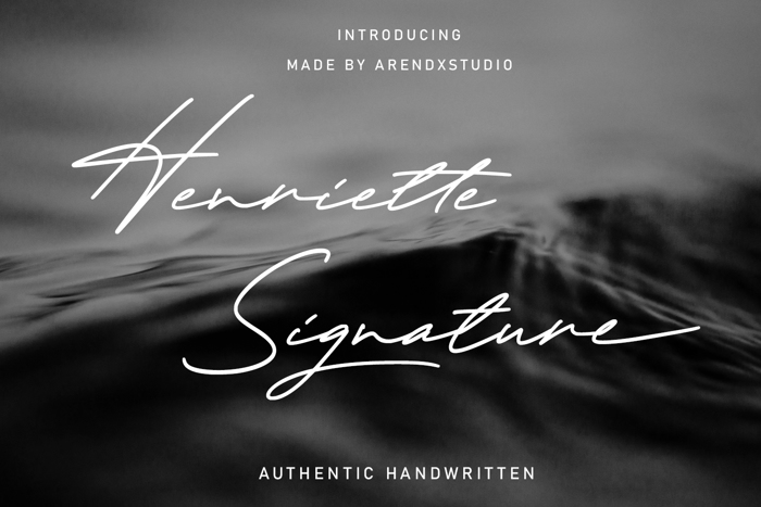 Henriette Signature Font poster