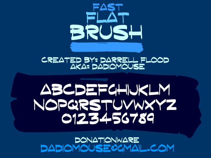 Fast Flat Brush Font poster