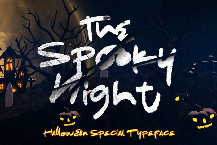 The Spooky Night Font poster