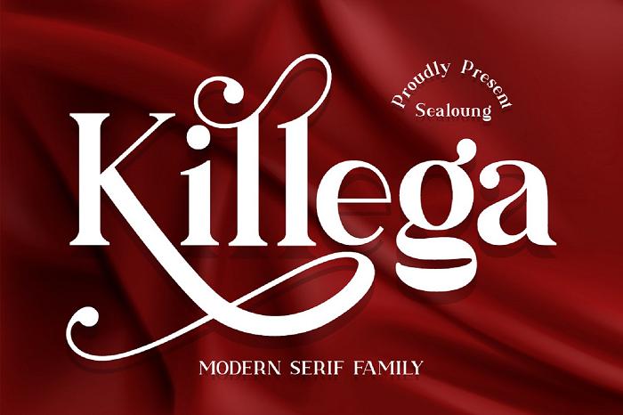 Killega Font poster