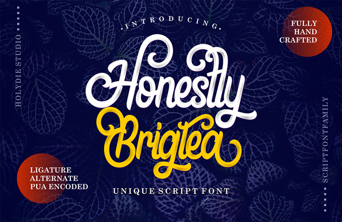 Honestly Brigtea Font poster