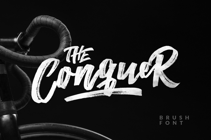The Conquer Font poster