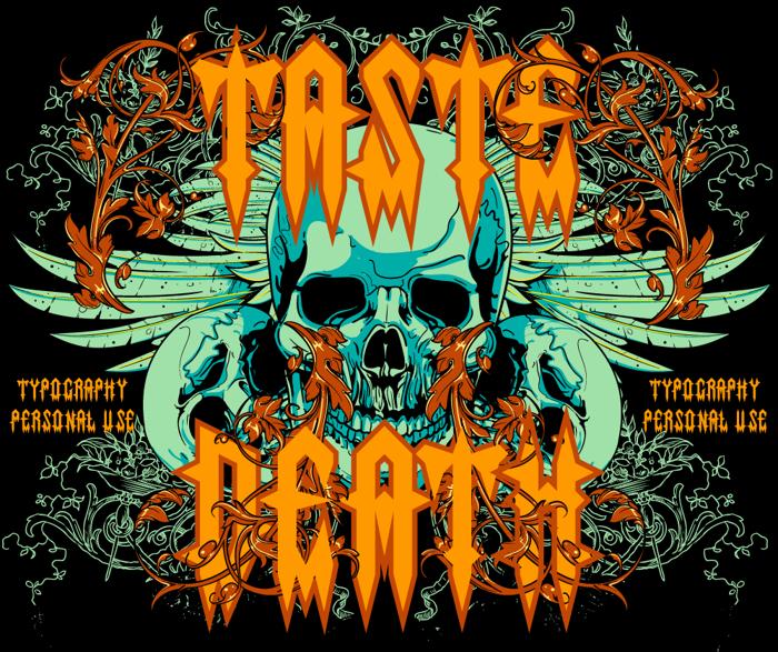 Taste death Font poster
