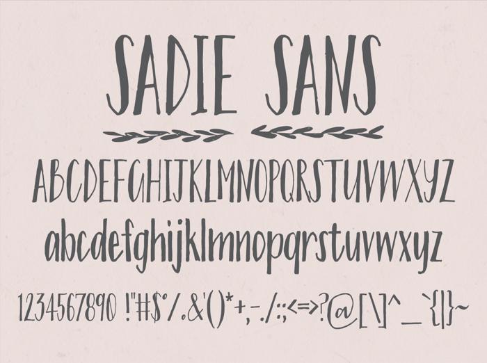 Sadie Sans Font poster