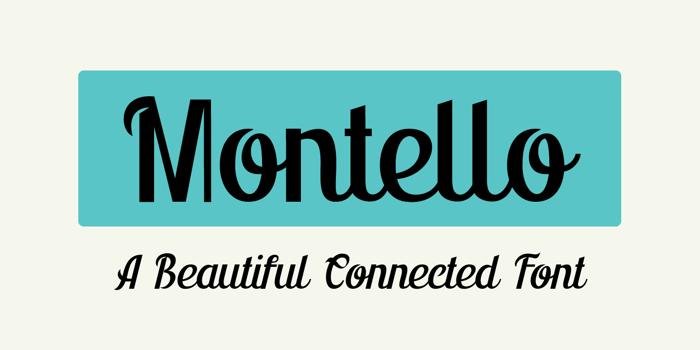 Montello DEMO Font poster