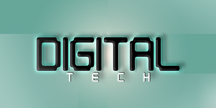 Digital tech Font poster