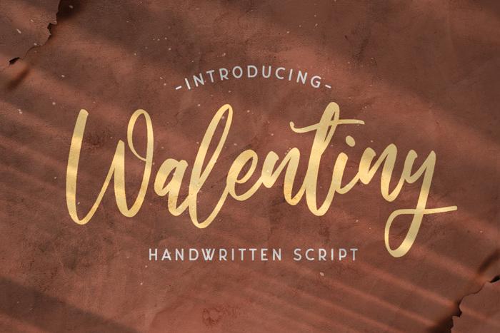 Walentiny Font poster