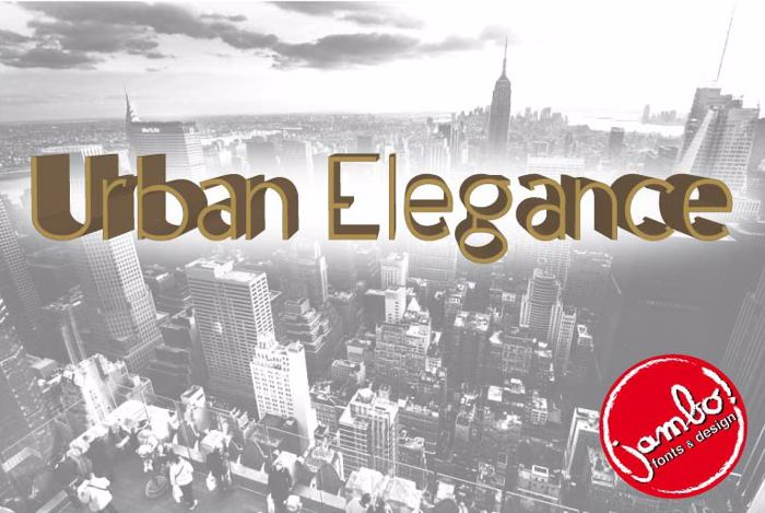 Urban Elegance Font poster