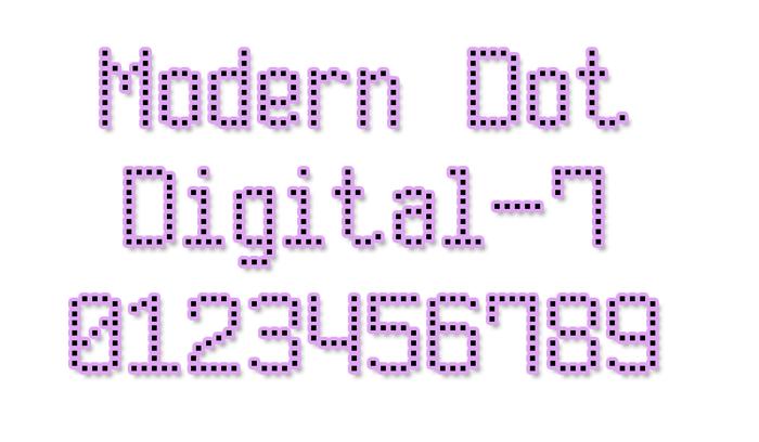 Modern Dot Digital-7 poster