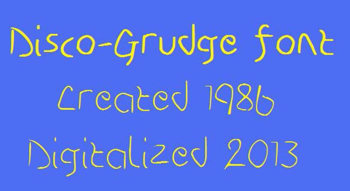 Disco-Grudge Font poster
