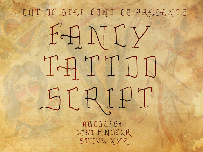 Fancy Tattoo Script Font poster