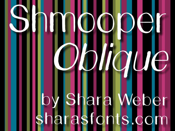 Shmooper Font poster