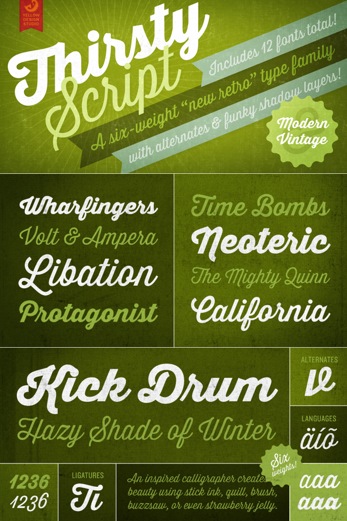 Thirsty Script Extrabold Font poster