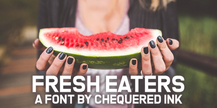 Fresh Eaters Font poster