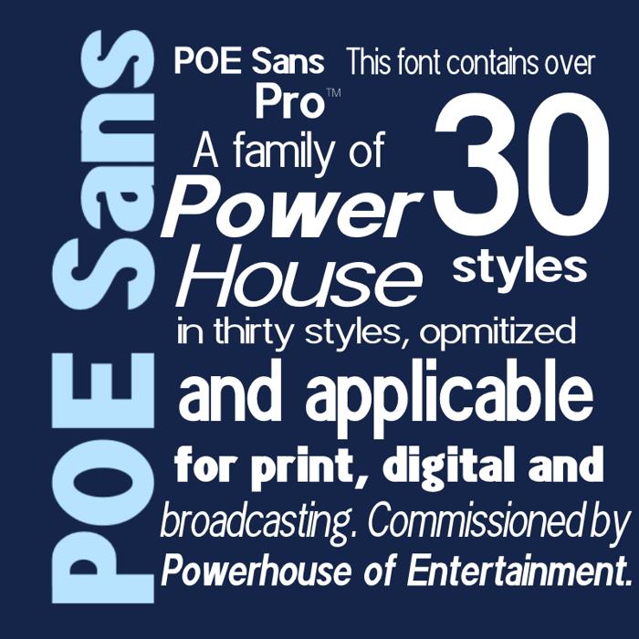 POE Sans Pro Font poster