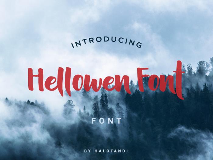 Hellowen Font poster