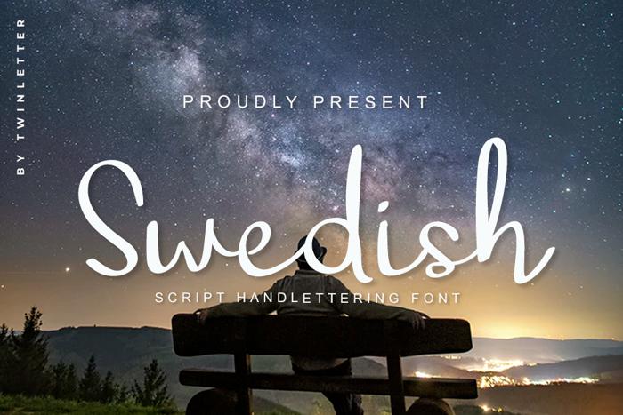 Swedish Font poster