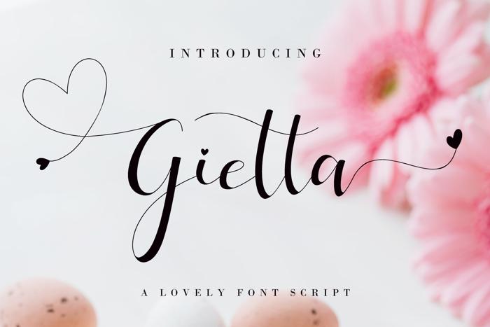 Gietta Font poster