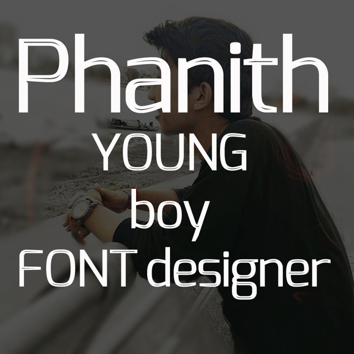 S-Phanith FONTER THIN Font poster