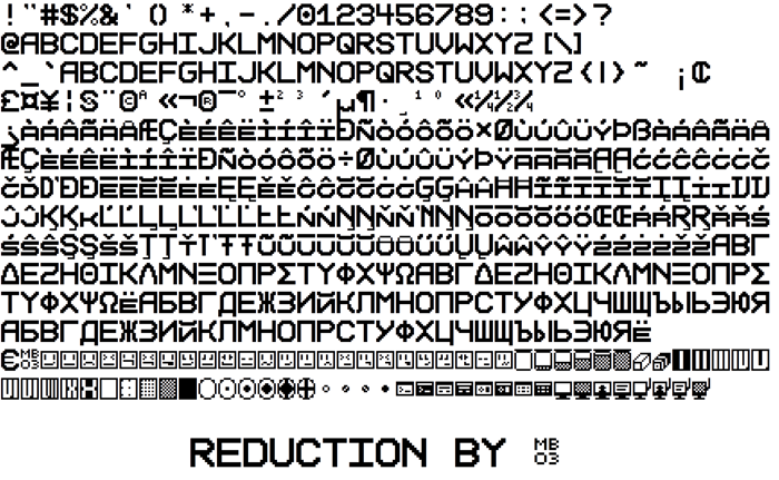 Reduction Font poster