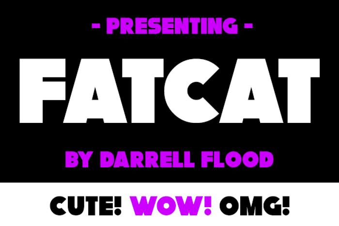 Fatcat Font poster