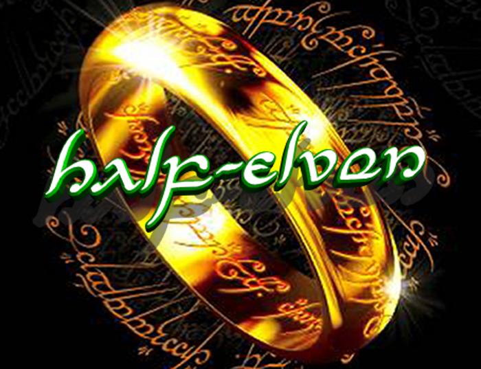 Half-Elven Font poster