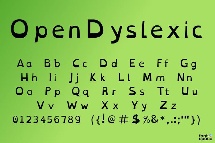 Open Dyslexic Font poster