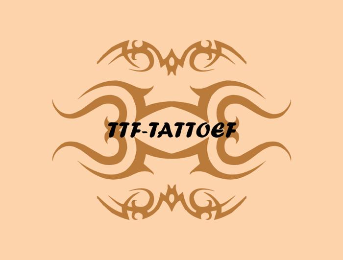 TTF_TATTOEF Font poster