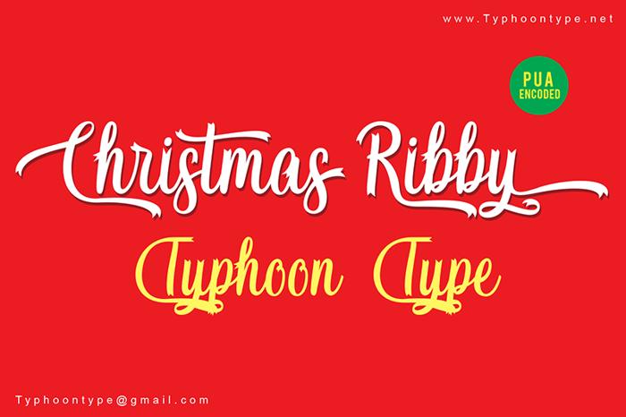 Christmas Ribby Font poster
