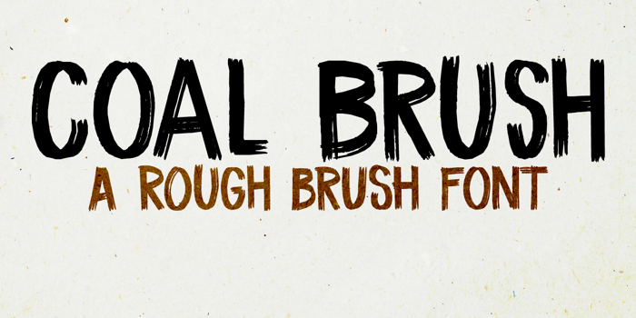 DK Coal Brush Font poster