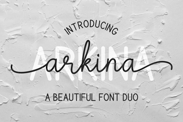 Arkina Font poster