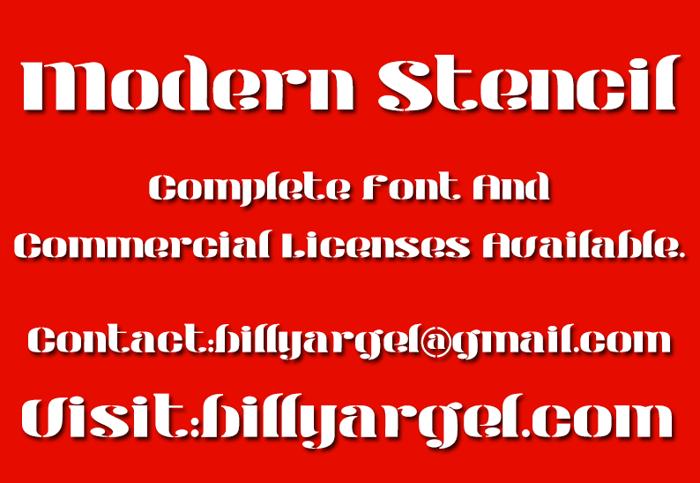 Modern Stencil Font poster
