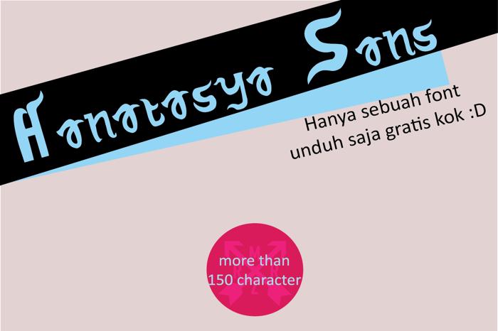 Hanatasya Sans Font poster