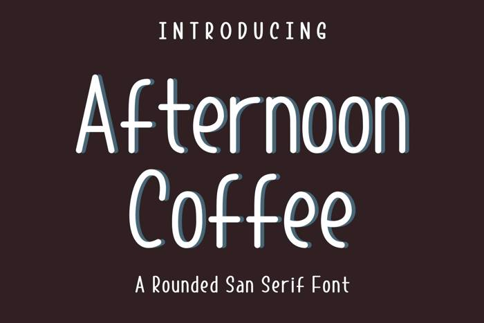 Afternoon Coffee Font poster