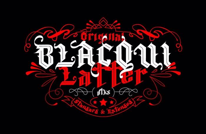 Vtks Blacqui Latter Font poster