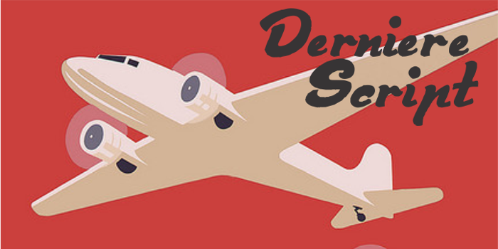 Derniere Script Font poster