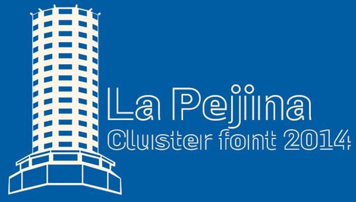 La Pejina ffp Font poster