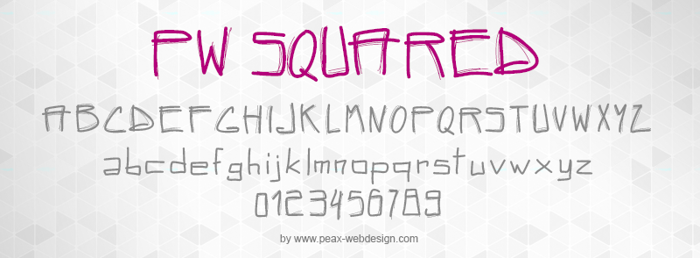 PWSquared Font poster