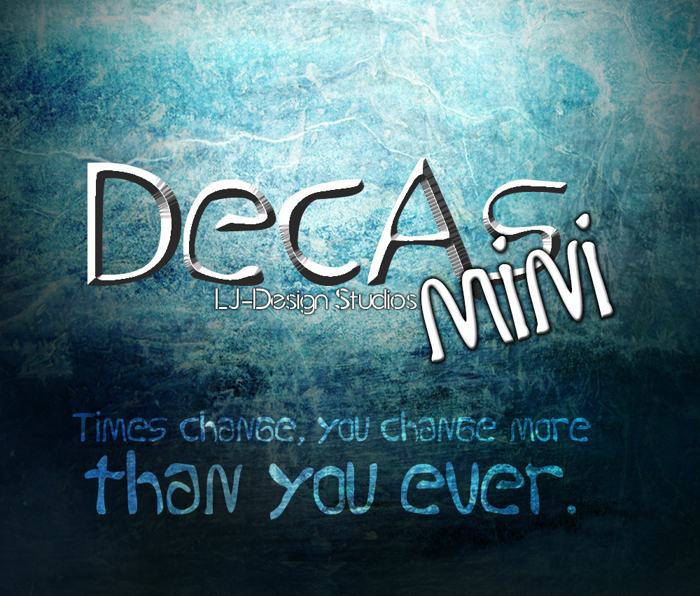 Decas mini Font poster