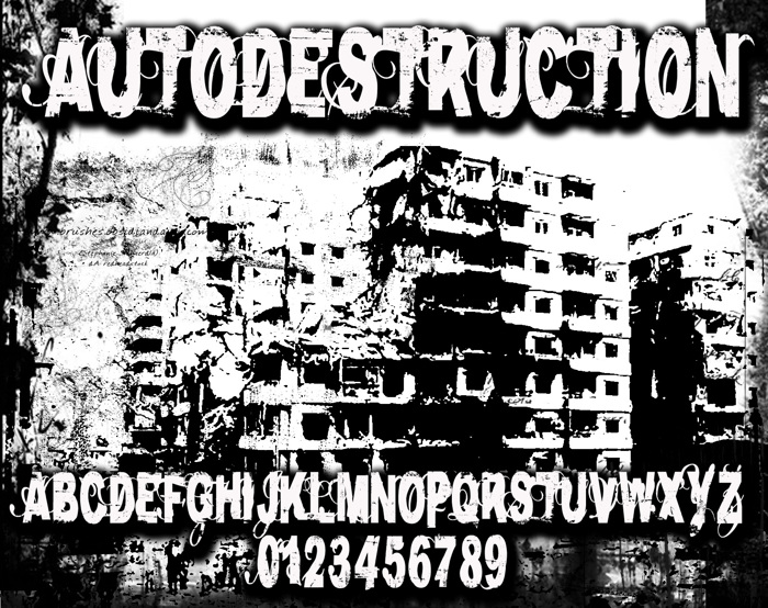 AutoDestruction Font poster
