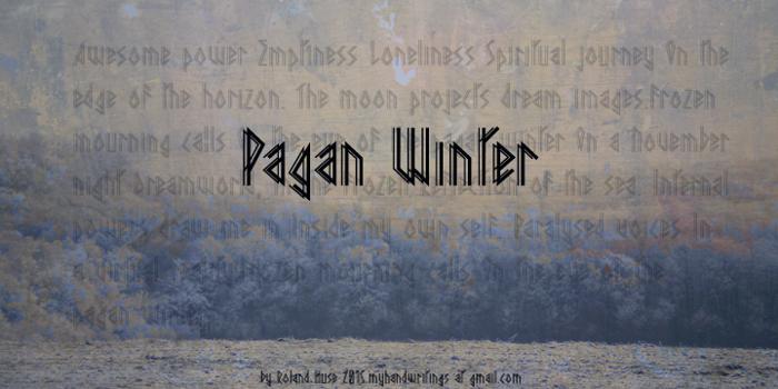 Pagan Winter Font poster