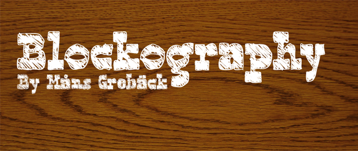 Blockography Font poster
