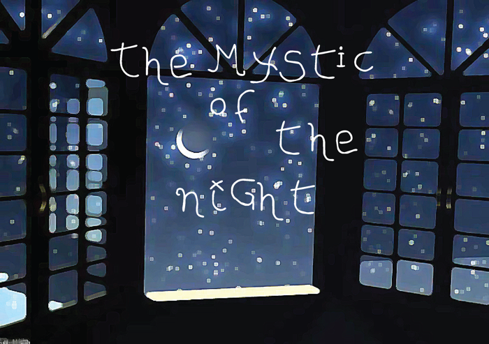 The MYStIc of the niGht Font poster