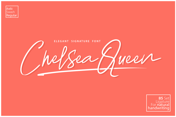Chelsea Queen Demo Font poster